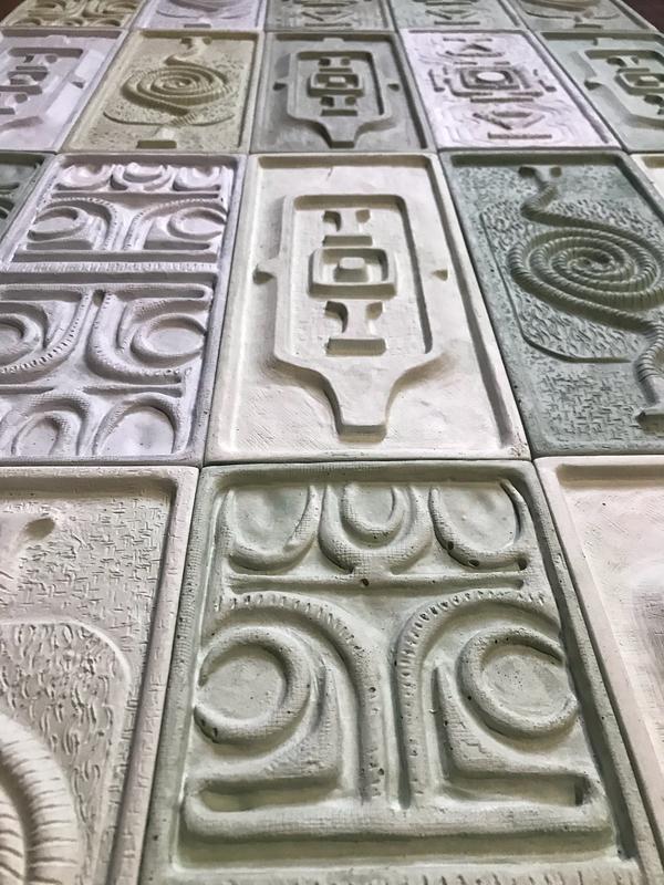 Декоративные  настенные панели гипс 34х15 см