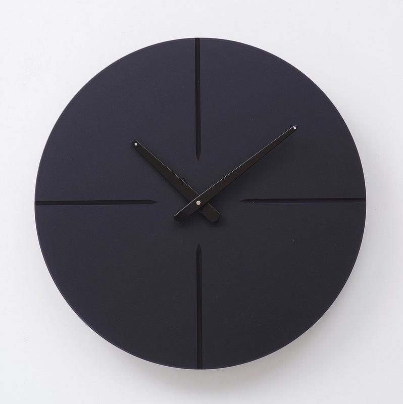 Часы настенные Round 1, черные