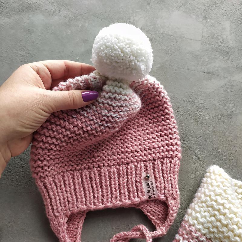 Весняна шапка, дитячий комплект шапка снуд