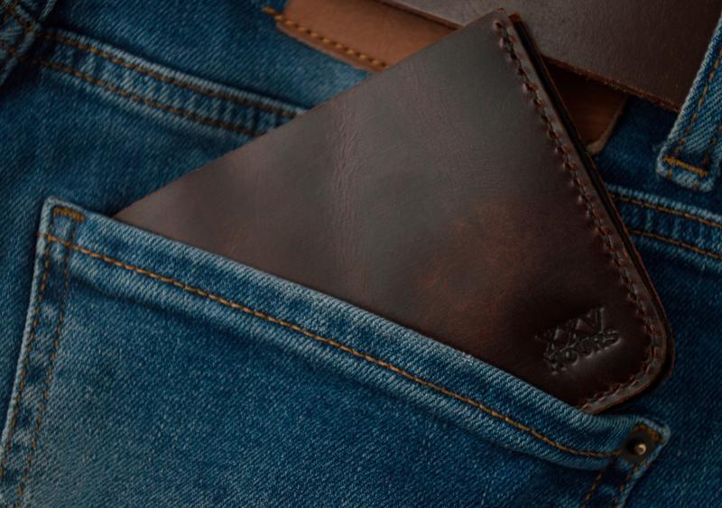 Кожаный кошелек (Виски) Middler