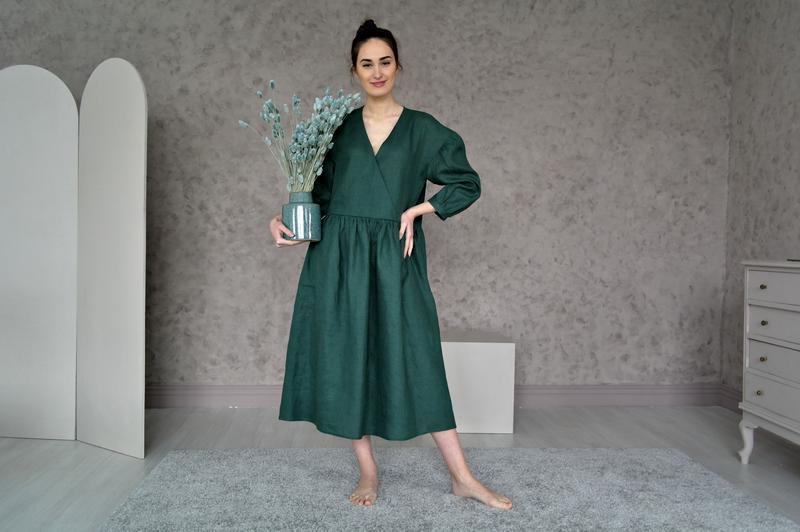 Льняное платье оверсайз Linen Oversized Dress