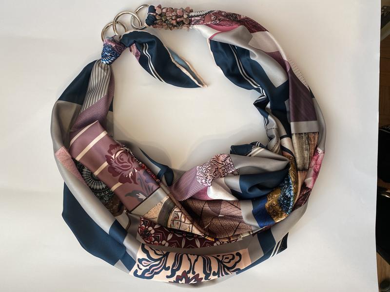 """Шелковый платок  """"Сиреневый туман"""" от бренда my scarf, шейный платок, подарок женщине"""