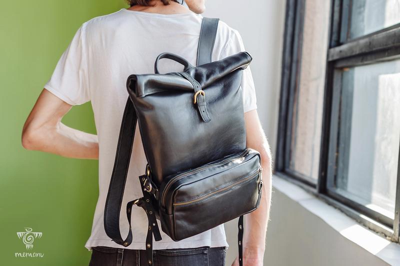 Молодежный Кожаный Рюкзак Для Ручной Клади + Сумка Карман Трансформер