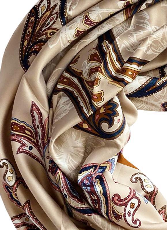 """Шелковый платок """"Песочная жемчужина"""" от бренда my scarf, подарок женщине. Премиум коллекция!"""