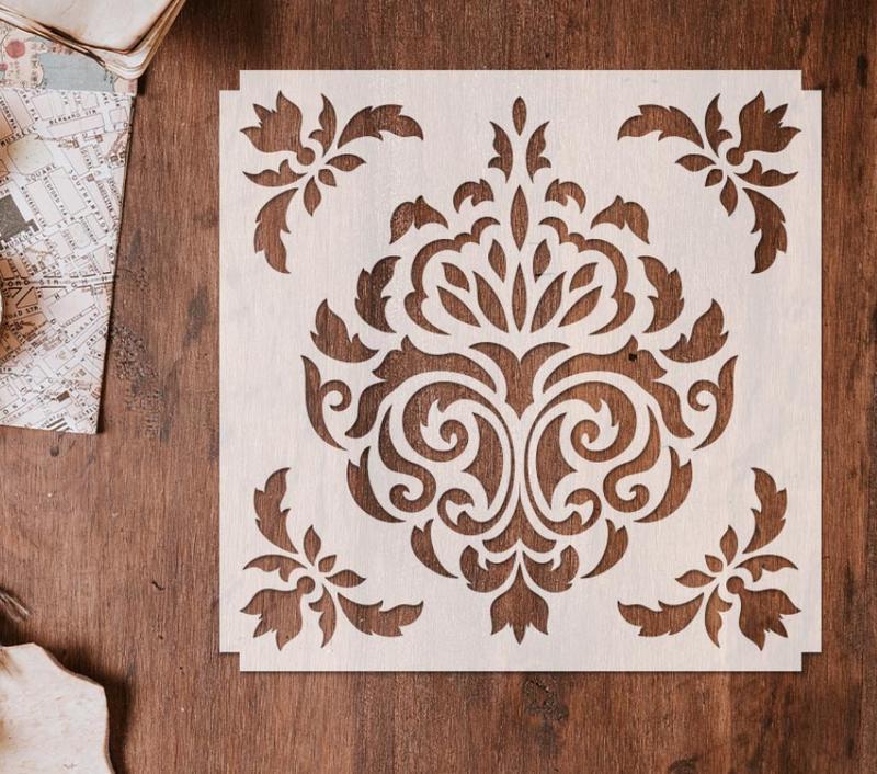 Трафарет многоразовый 22 штамп теснение на стены шаблон УЗОР для альбомов для скрапбукинга 150*150 мм