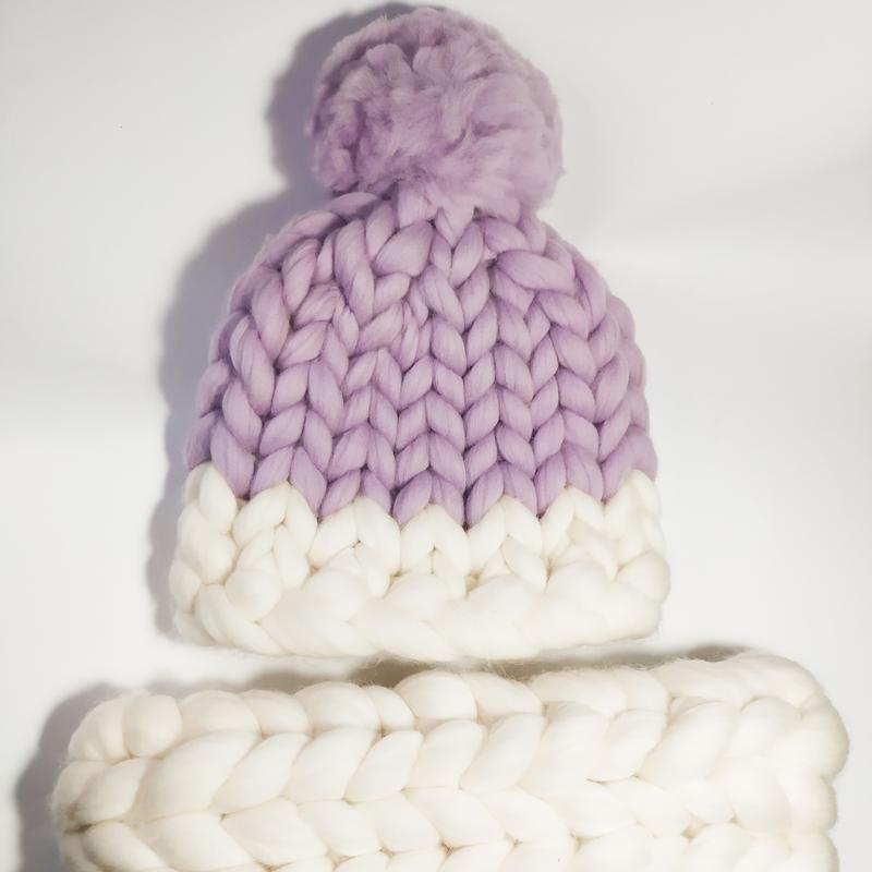 Детский комплект шапка снуд варежки очень теплые