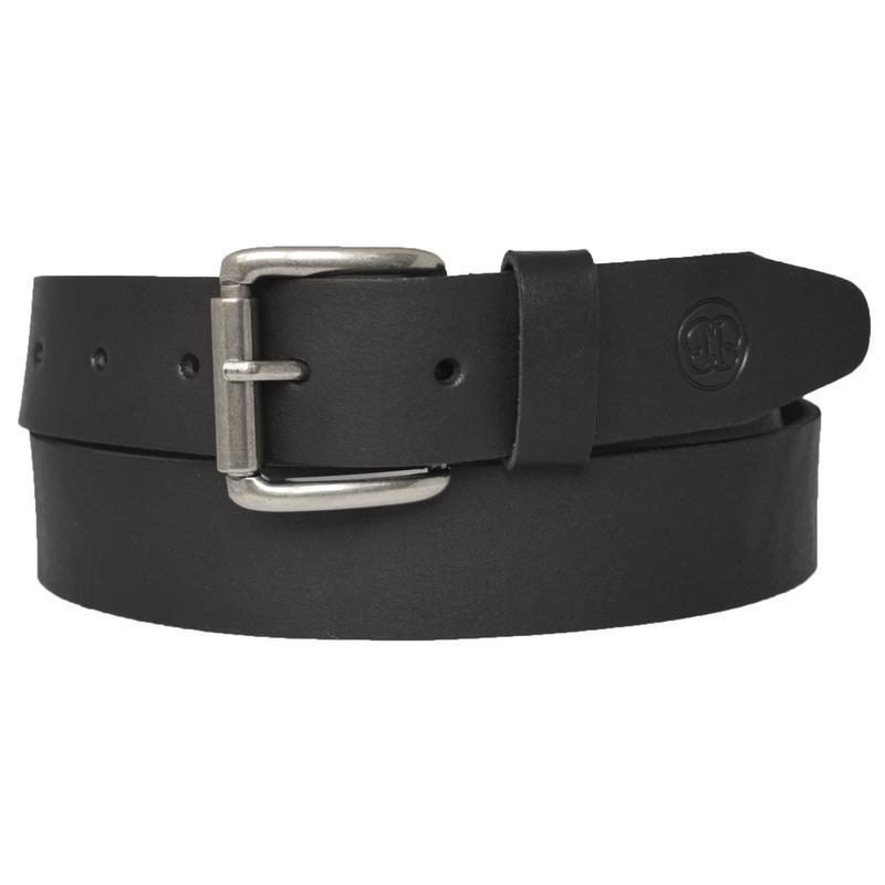 Ремень кожаный мужской черный под джинсы henrich38