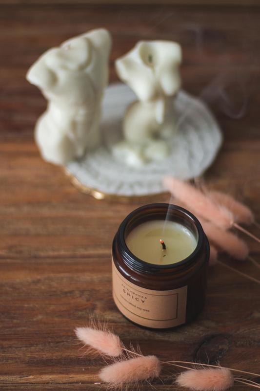 Массажная свеча l свеча из соевого воска l масажная свеча