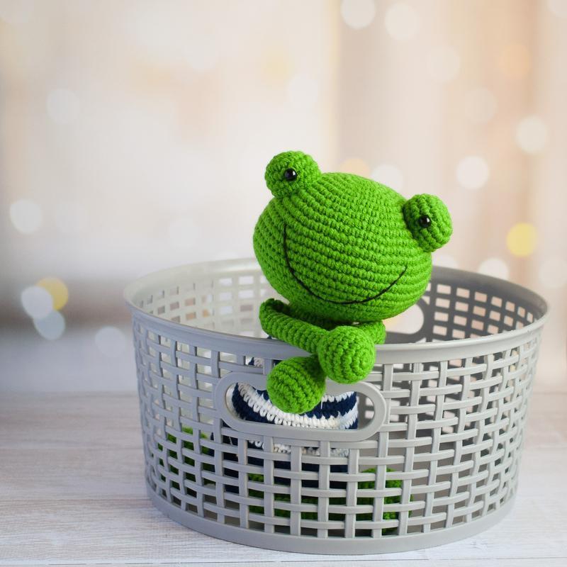 Лягушка. Игрушка для малыша. Первая игрушка новорожденного. Интерьерная игрушка.