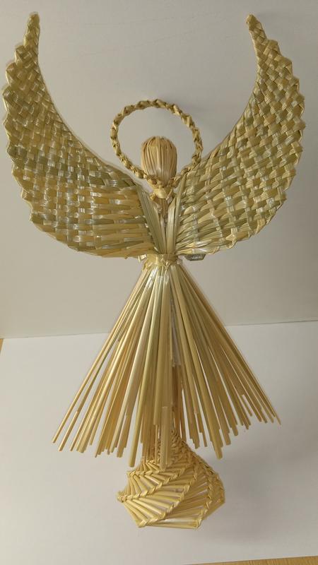Рождественский Соломенный Ангел Ангел ручной работы .Рождественский Соломенный Ангел Ангел