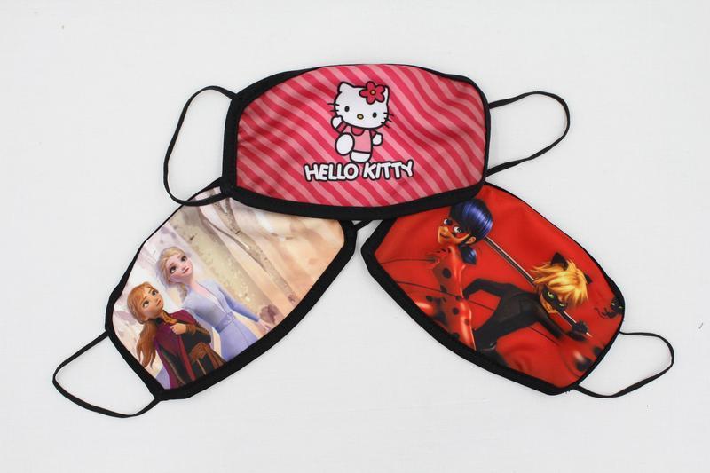 Детская многоразовая маска Леди Баг и Супер Кот