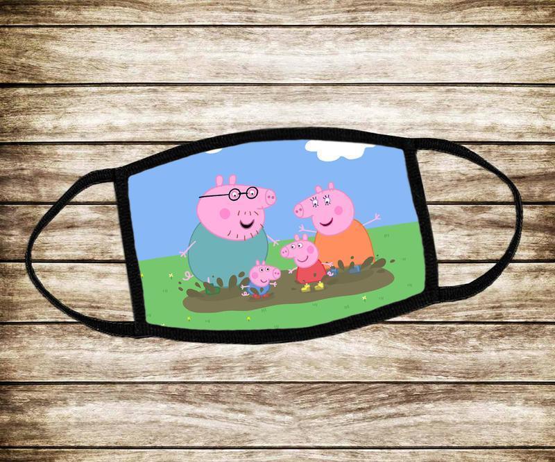 Детская многоразовая маска Свинка Пеппа