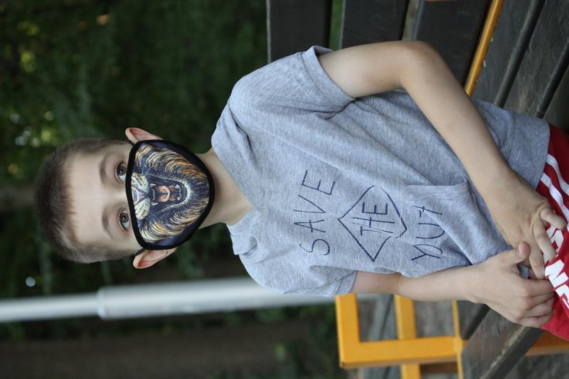 Детская многоразовая маска Лев