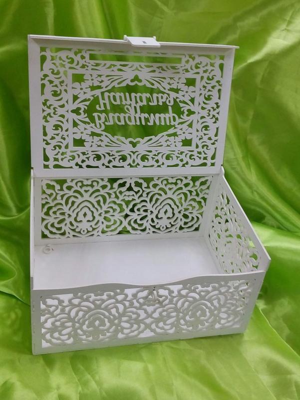 Шкатулка именная для сбора денег на свадьбе 31х21х15 см