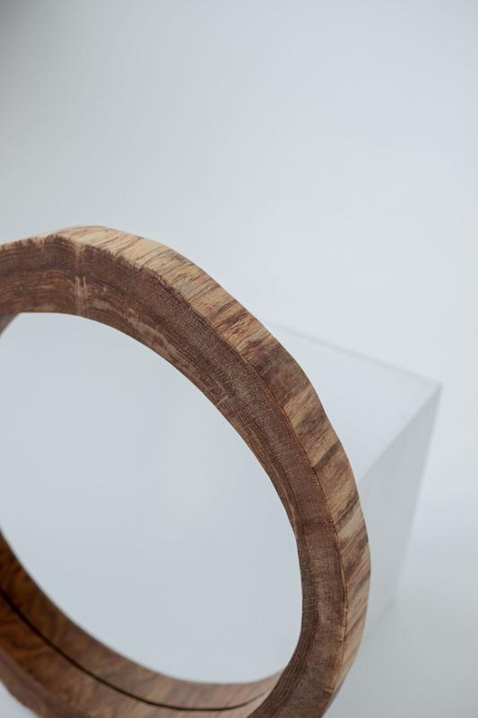 Зеркало из дерева , круглое зеркало, деревянное зеркало, зеркало из спила