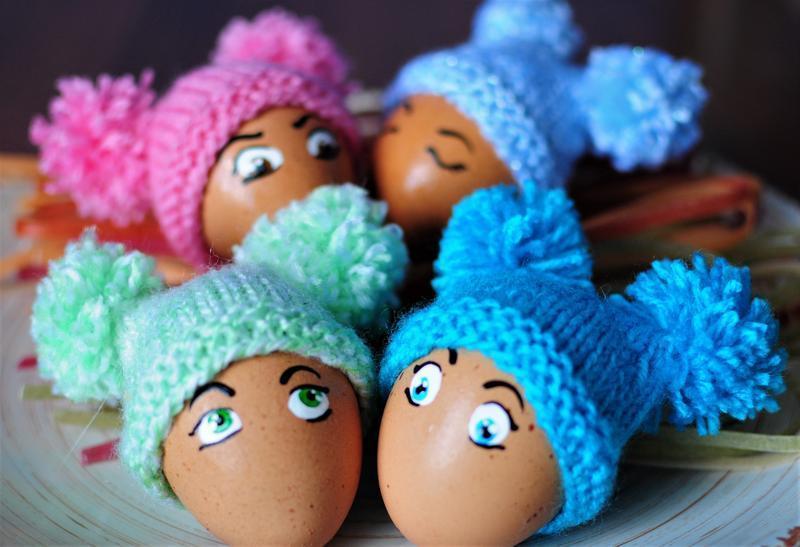"""Шапочки для пасхальных яиц """"С Бомбонами"""""""