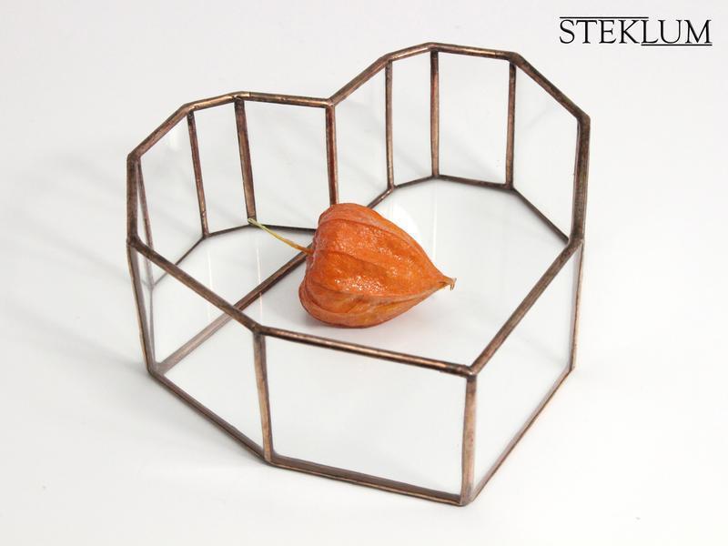 Флорариум №30 mini Heart copper