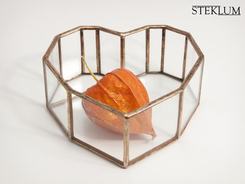 Флорариум No30 nano Heart copper