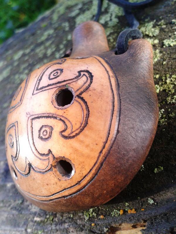 Керамическая окарина, духовой инструмент
