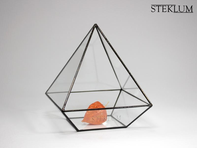 Флорариум №2 mini Egyptian pyramid black