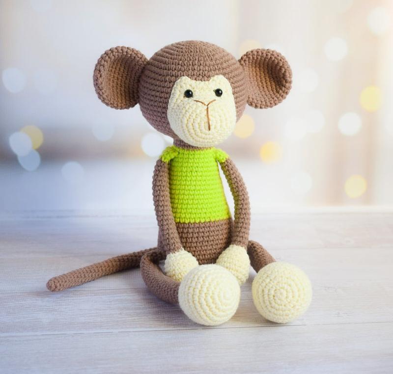 Обезьянка.  Первая игрушка. Интерьерная игрушка. Подарок новорожденному..