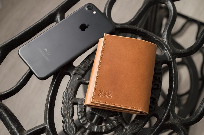 Кожаный кошелёк (Виски) Green Wallet