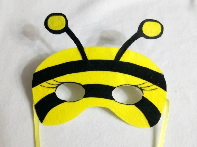 Маска пчелы из бумаги своими руками 91