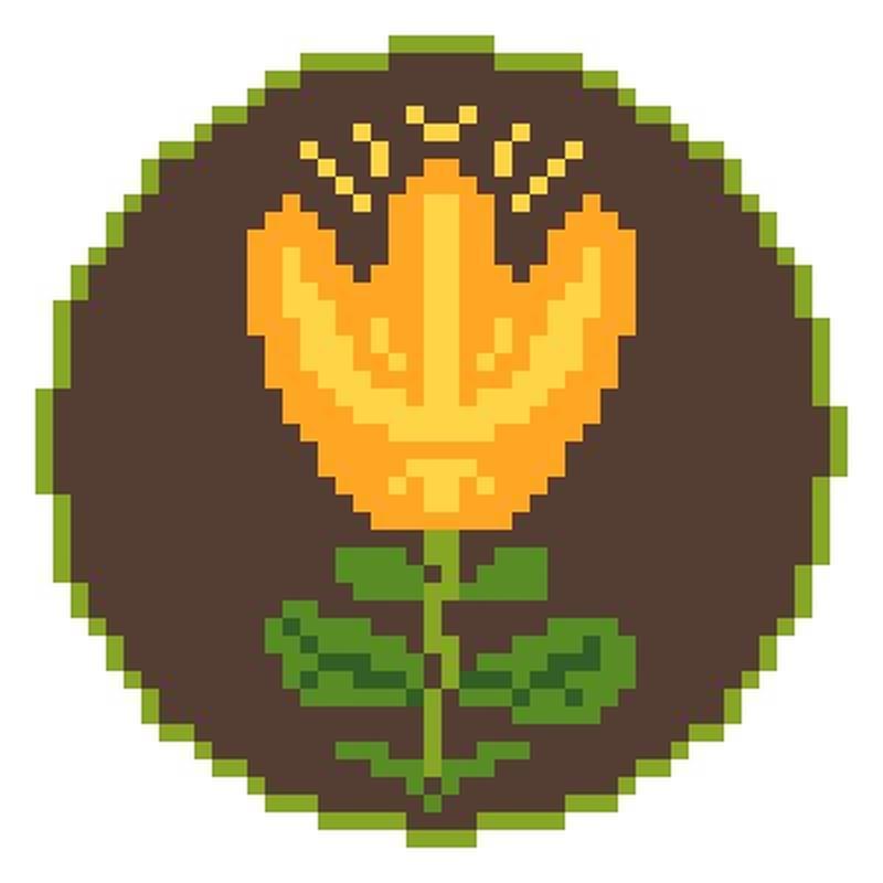 Схема для вышивки крестиком - Желтые тюльпаны