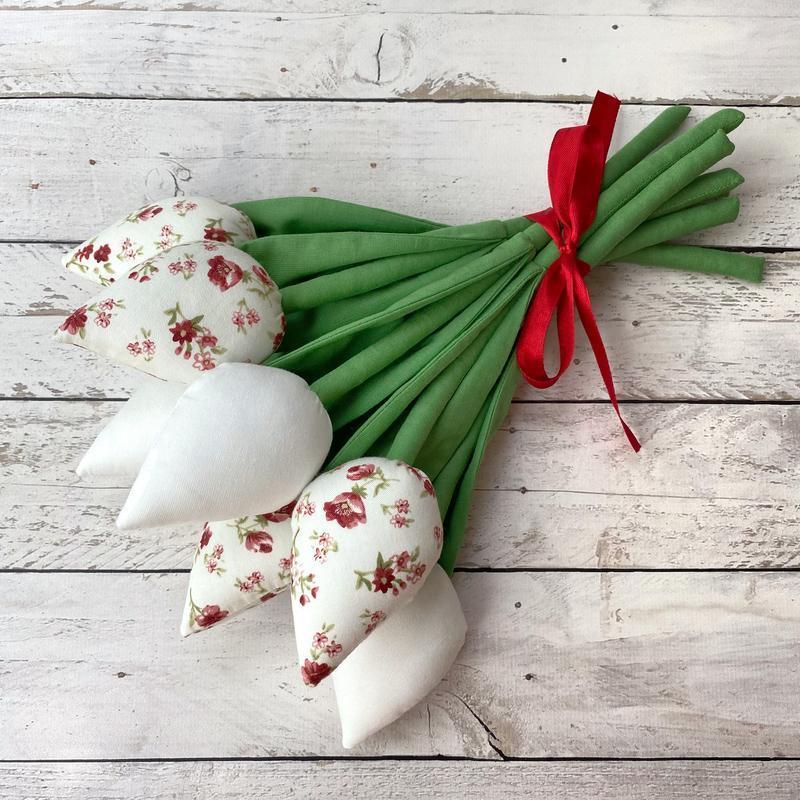 Букет текстильные тюльпаны подарок на День матери