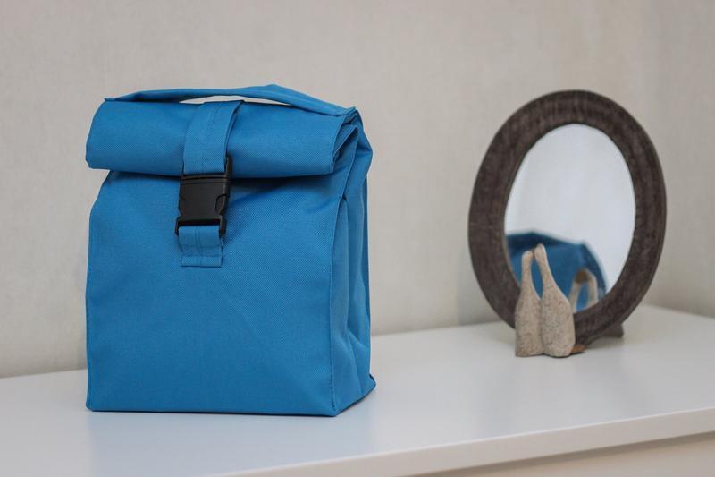 Термо сумка для ланча голубая