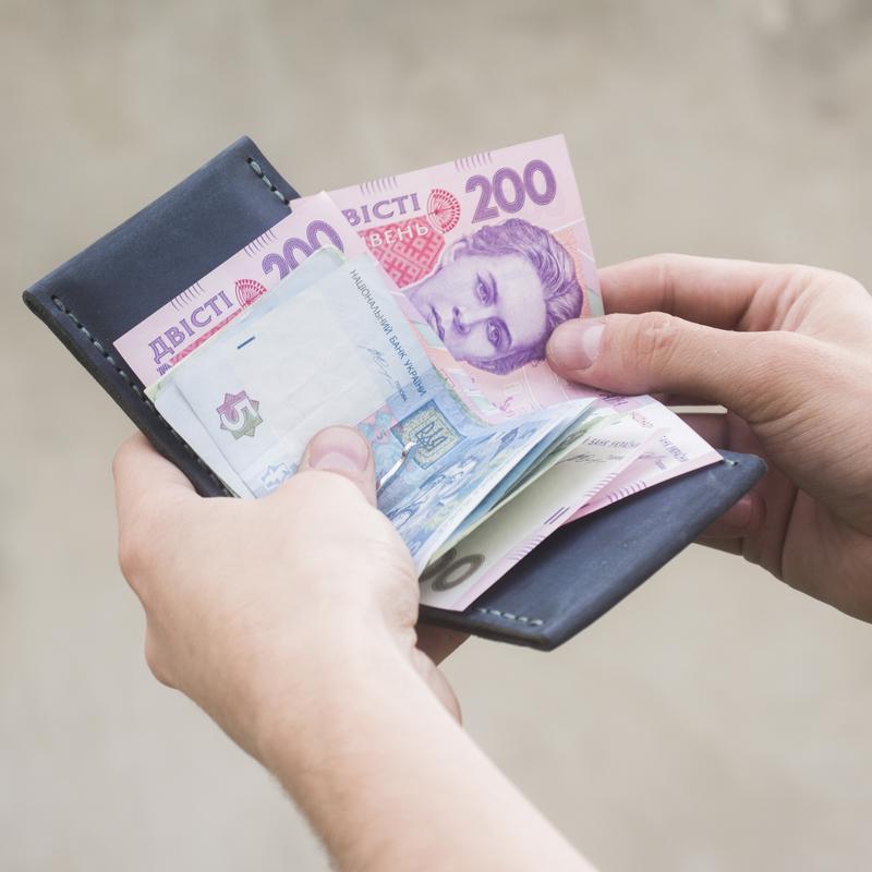 Кожаный мужской кошелёк - Зажим для денег OldSalt с гравировкой Компас - Бутылочный