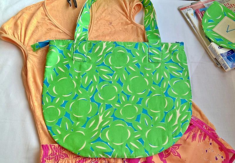 Хлопковая сумочка,косметичка ручной работы