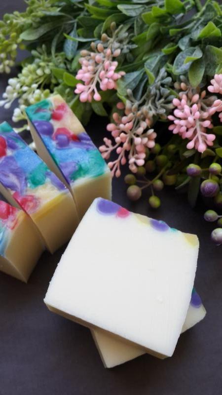 Натуральное мыло с нуля.Весенний сад(шелковое)