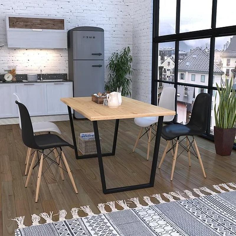 Опора для стола Трапеция Loft Design усиленная толщина метала 2мм (1002LP)