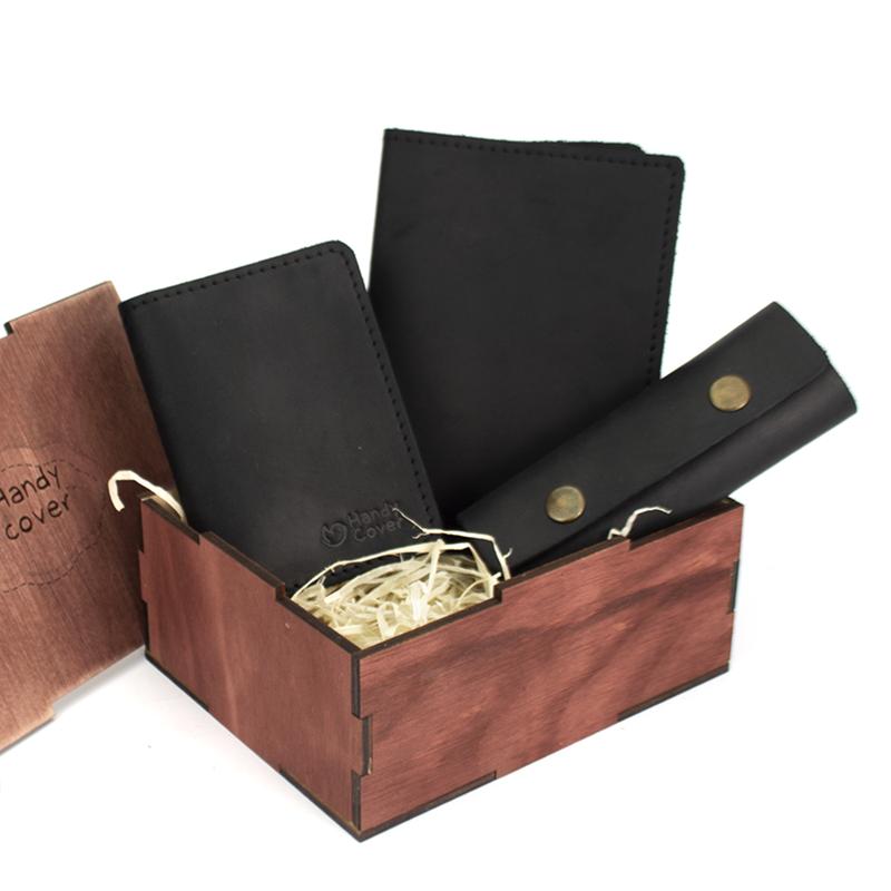 Мужской подарочный набор в коробке Handycover №46 черный