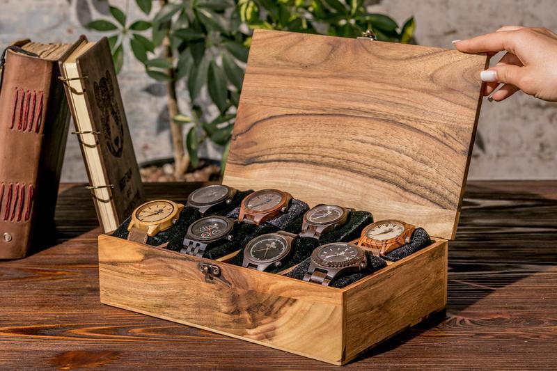 Іменна Коробочка Дерев'яний Органайзер Для Годинників Скринька З Дерева На Десять Відділень