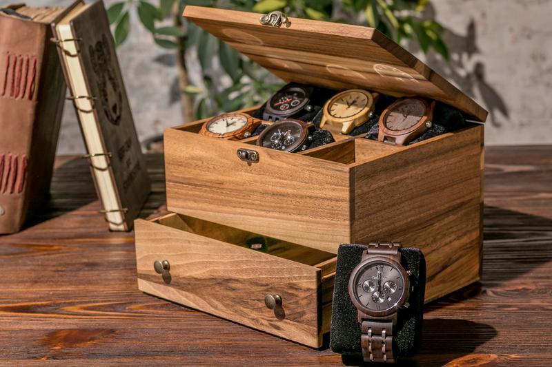 Дерев'яний Аксесуар Для Чоловічих Швейцарських Годинників Органайзер Для Зберігання Особистих Речей