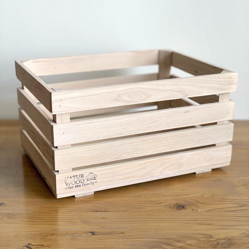 Белый деревянный  ящик NATURWOOD  40 х 30 х 22 см