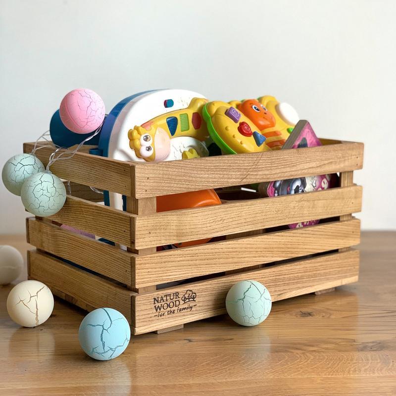 Деревянный ящик для  игрушек( 40 х 30 х 22 см)