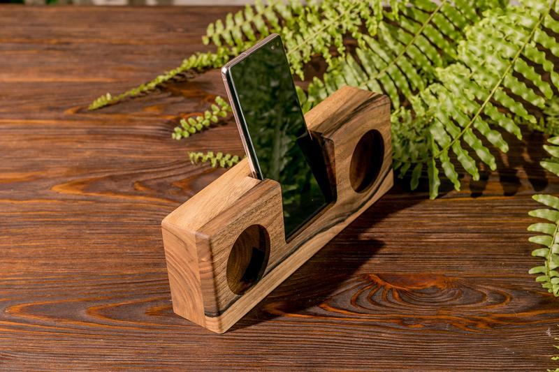 Подставка Для Телефона iPhone Смартфона Колонка Усилитель Звука-Жене Мужу Парню Девушке