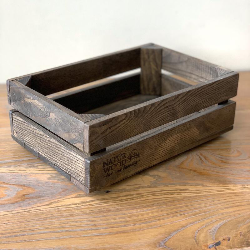 Темный деревянный короб  Naturwood ( 30х20х11 см)
