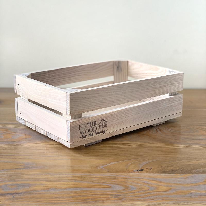 Маленький белый деревянный ящик 30*20*11 см