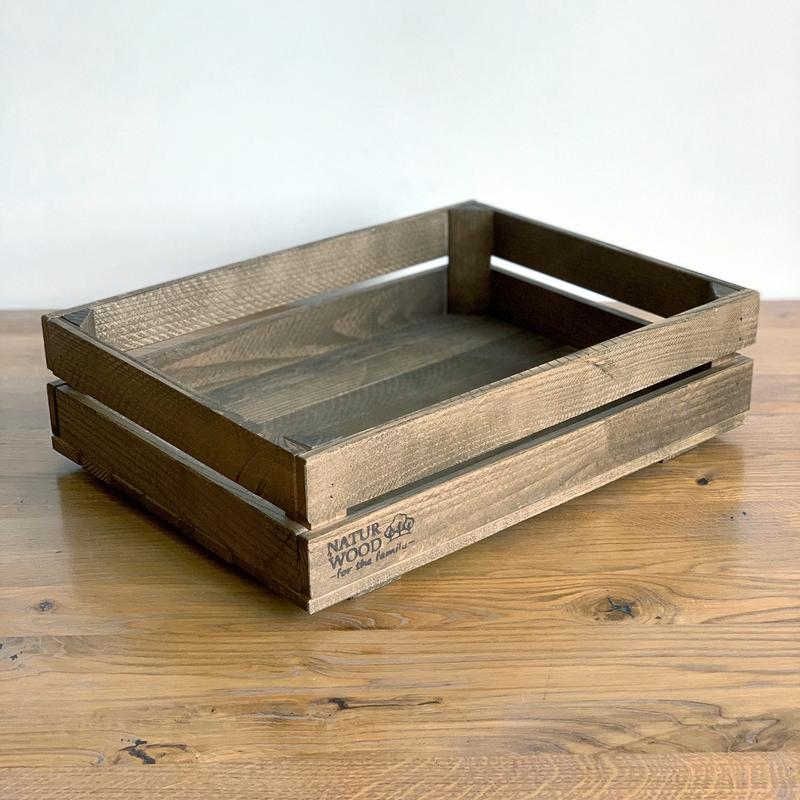 Темный деревянный ящик Naturwood (40х30х11 см)