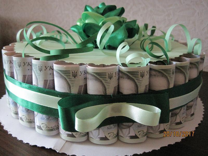 Поздравление к свадебному торту из денег на свадьбу
