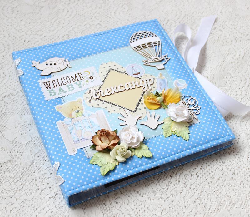 Альбом - дневник для новорожденного мальчика , бебибук для мальчика , мамин дневник