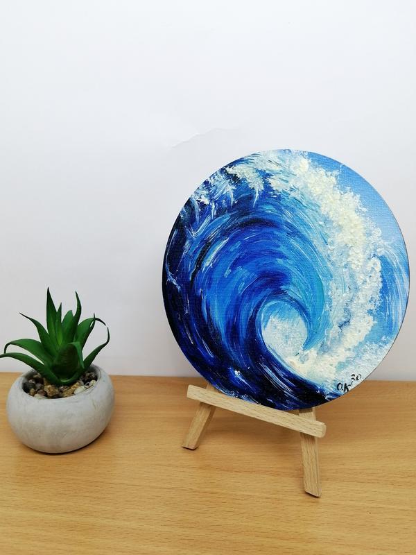 Миниатюра маслом волна, Морской пейзаж, Морские волны, Картина абстракция, Море и волны