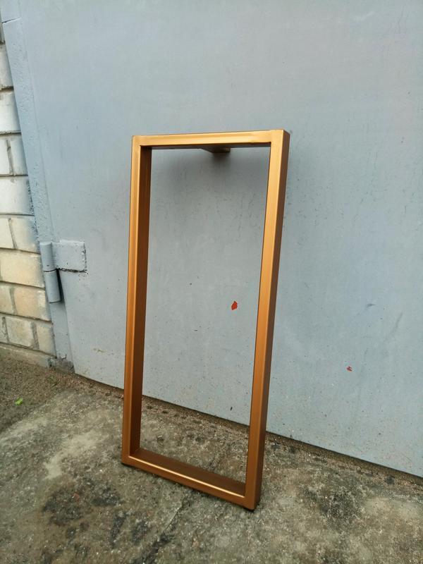 Прямоугольная ножка для стола лофт металл опора профиль 40х20