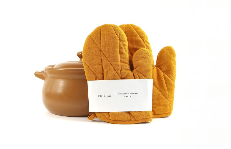 Прихватки для кухни, кухонные перчатки из льна, кухонная рукавица, набор прихваток