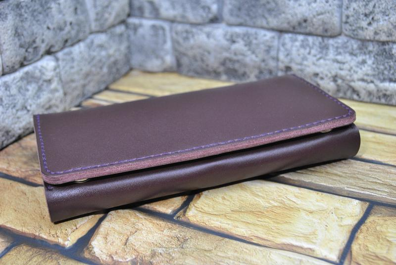 Красивый кошелек из натуральной кожи K41-bordo капри