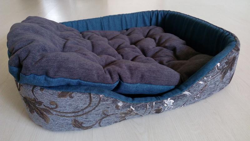 Лежак диван кровать для собак от 10кг мебельная ткань 52*60